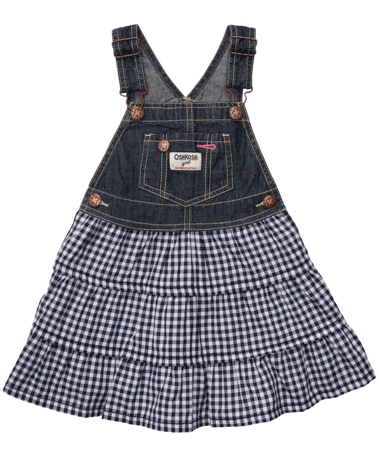 f63edc910 Osh Kosh Baby Dress, Baby Girls Overall Dress | Everly Rose | Baby ...