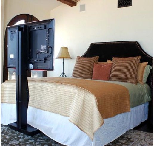 motorized under bed tv lift mechanism works with any size. Black Bedroom Furniture Sets. Home Design Ideas