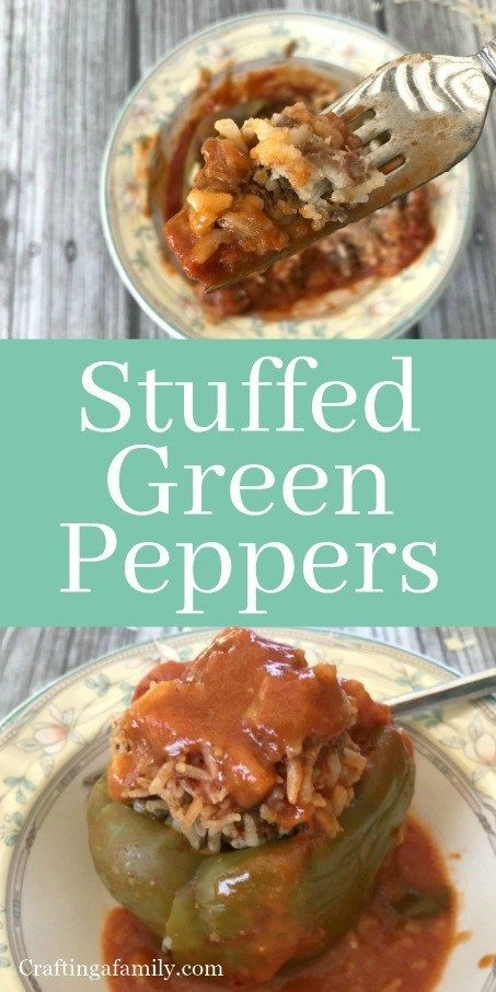 Modern Trick to your Mom's Stuffed Green Peppers #greenpeppers