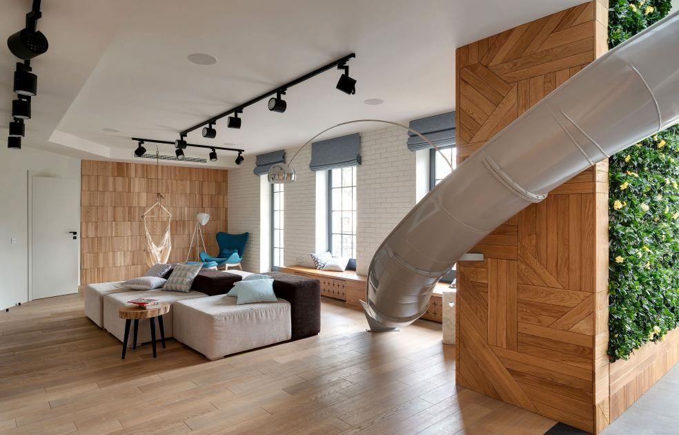 Außergewöhnliche Wohnideen: Hollywood Schaukel Statt Sofa. Maisonette  WohnungEinrichtungSpannungRutscheBadezimmerWohnzimmerArbeitszimmerTerrassenSchöner  ...