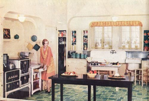 1930 state of the art kitchen neat layered arches  what is that to the right of the wide farm sink  pin by elker lijck on old interiors   pinterest   functional kitchen  rh   za pinterest com