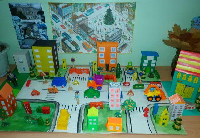Как сделать поделку город из картона своими руками 83