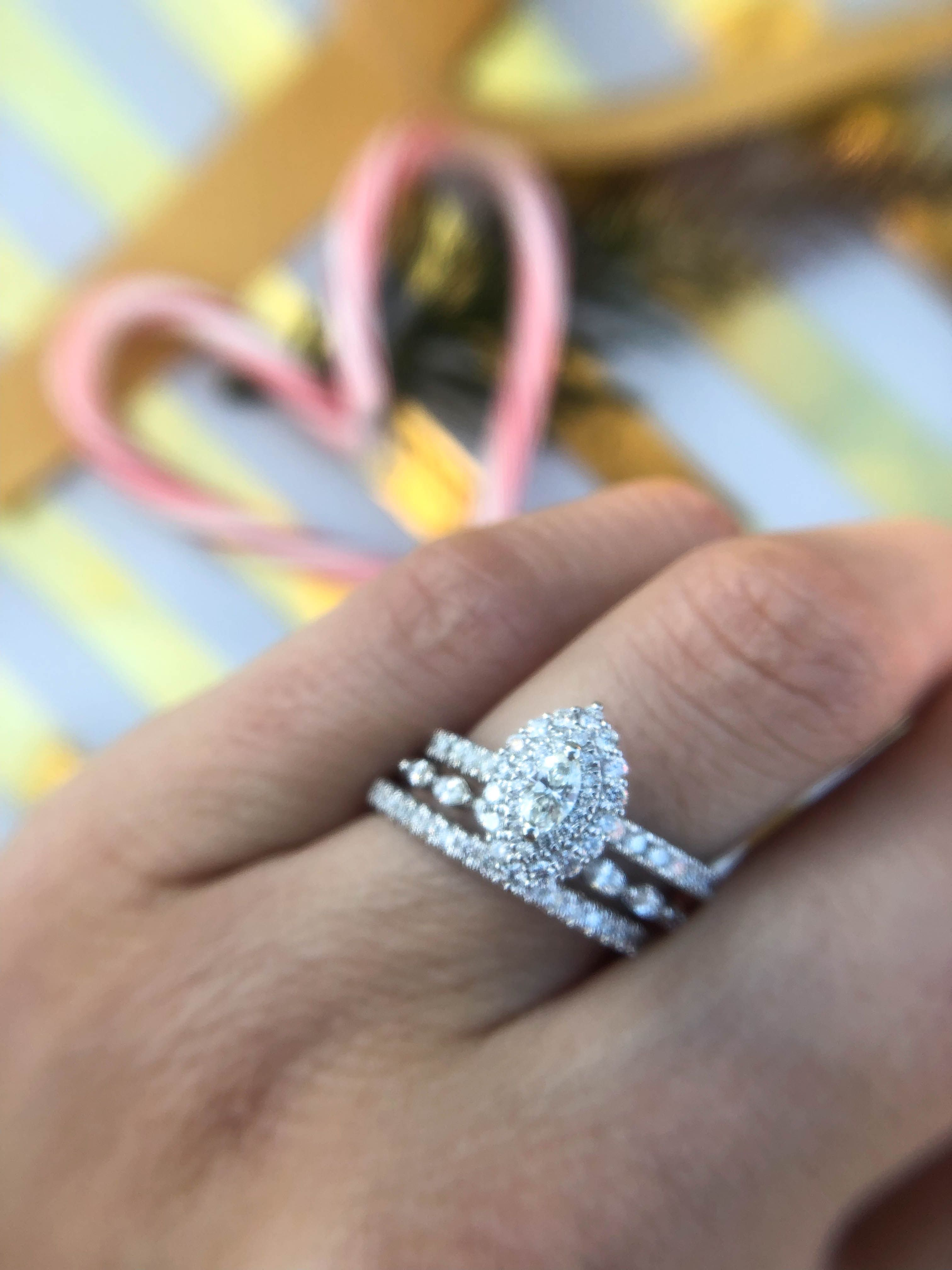 This Marquise Diamond Engagement Ring Stack Is Stunning Ruby Engagement Ring Set Marquise Diamond Engagement Ring Gemstone Diamond Engagement Rings