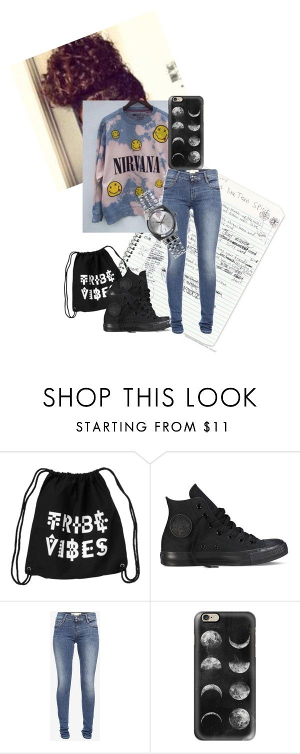 """Untitled #302"" by kitkat-61502 ❤ liked on Polyvore featuring Monki, Converse, French Connection, Casetify and Nixon"