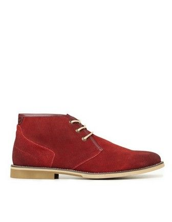 Myer Hush Puppies Uptown Red Dress Shoes Men Chukka Boots Boots