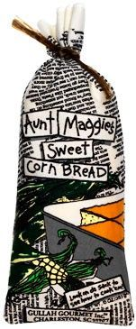 Aunt Maggie's Sweet Cornbread - $8.95 : (sweet southern cornbread)  Just add water! We like to make mini sized muffins and serve them hot with our Shrimp & Grits, She Crab Soup, Southern Corn Chowdah, Sassy Sue's Shrimp Creole, 1-Tata, 2-Tata, 3-Tata Soup, Gullah Gullah Gumbo and everything else we can think of! A bag makes six large muffins, twelve mini muffins or one 8x8 pan. Dis is jus' sweet enuff, jus' like Aunt Maggie!