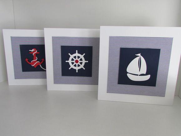 Kit Quadros marinheiro