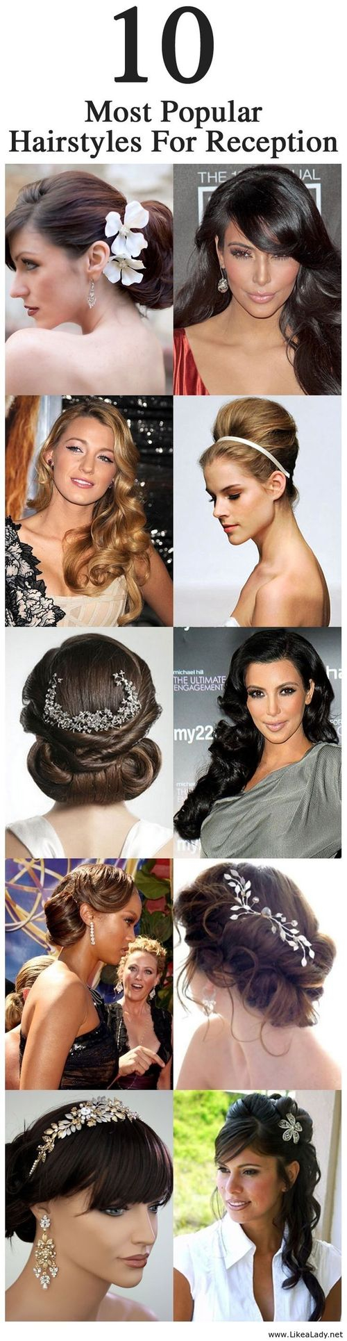 10 most popular hairstyles for reception - LikeaLady.net