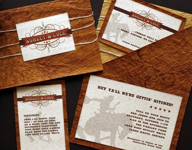 Southall Eden Paperie Western Wedding Invitations Nashville - Wedding invitation templates: western wedding invitations templates