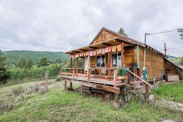 480 Sq Ft Tiny Mountain Cabin In Bailey Colorado For Sale Cabin Mountain Cabin Colorado Homes