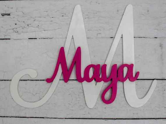 Custom Nursery Name Sign, Large Wood Letters, Kids Room Decor, Decorative  Letters, Capital Letter With Name, Wall Art, Wooden Wall Letters