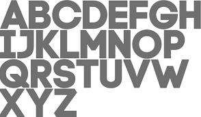 simple block letters