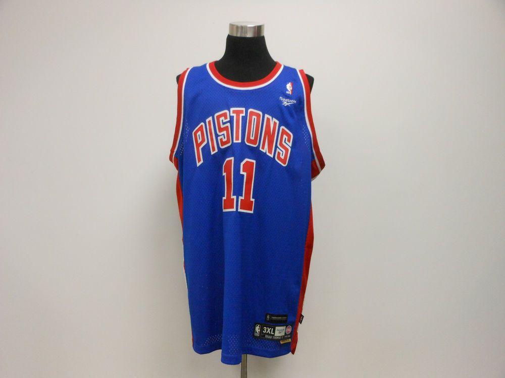 best service 9457a 0876a Reebok Hardwood Classics Detroit Pistons Isaiah SEWN ...