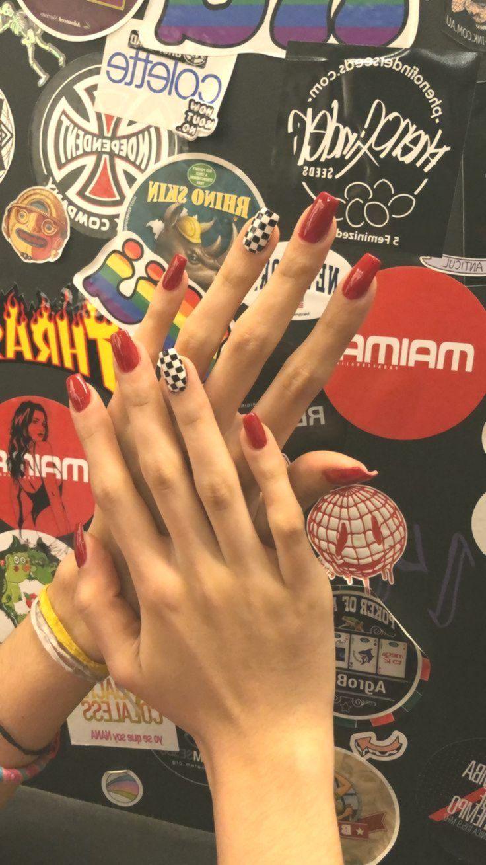 Nails  #nail #nails #polish #nailart #race #checkered, #checkered #Nail #nailart #Nails #Polish #race #koreannailart