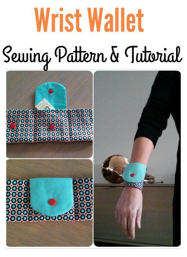DIY Wrist Wallet Free Pattern | Brieftaschen, Handgelenk und Frei