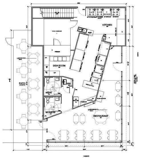 Mexican Restaurant Kitchen Layout acapulco mexican restaurant floor plan | architecture . plans
