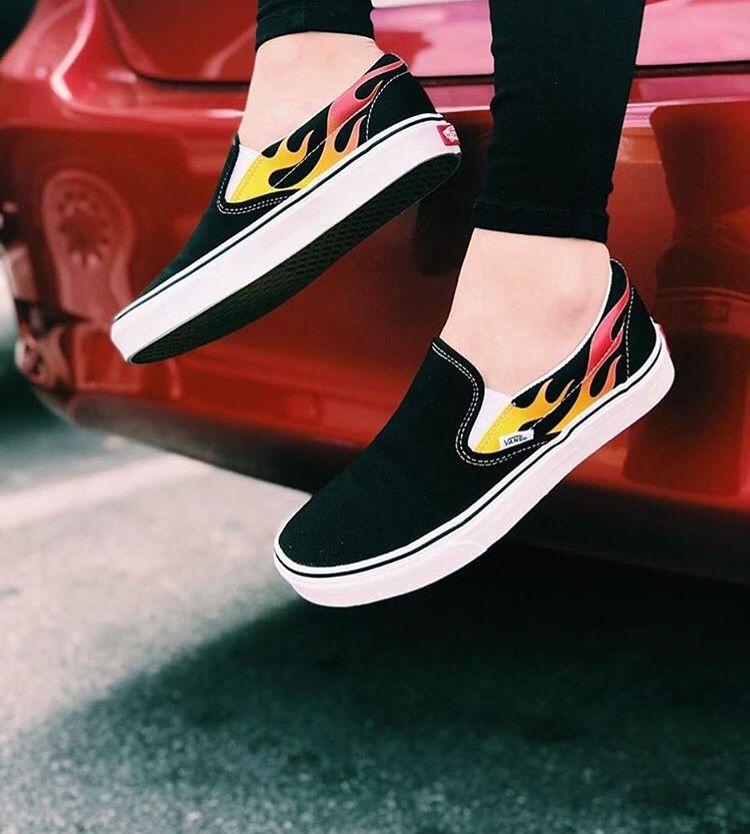 chaussure vans femmes flammes