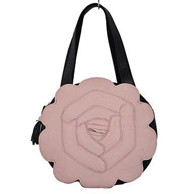 Ladystyle blommönster Kvinnor PU läder hänger lös – SEK Kr. 194