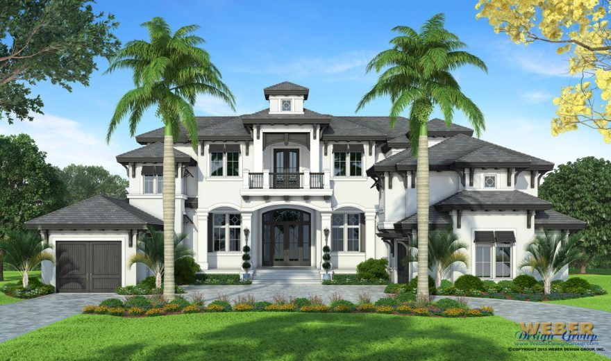grand cayman house plan - weber design group - his transitional west