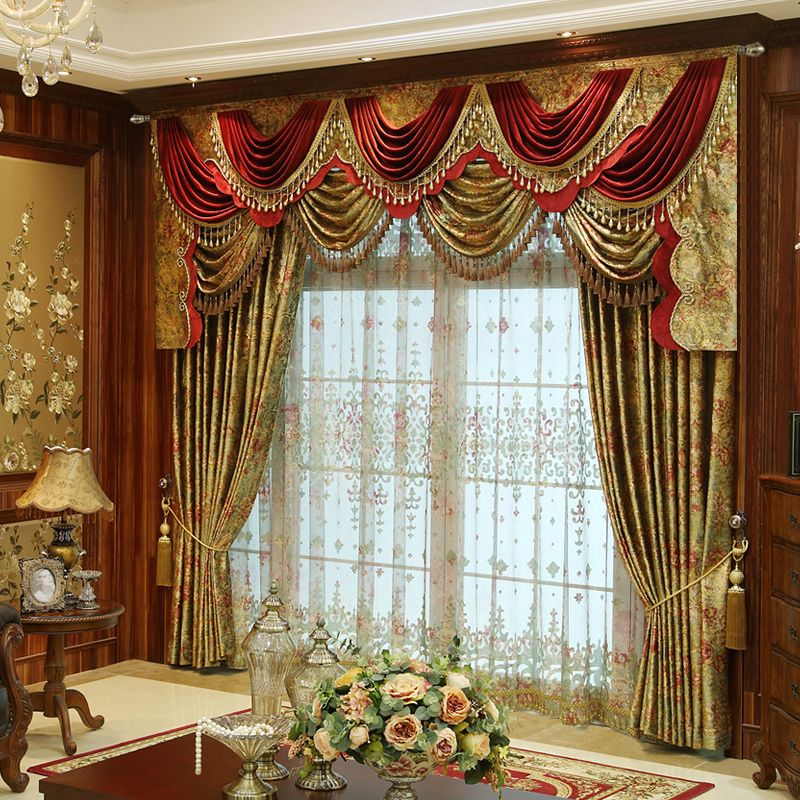 Old world swag treatments available for Old world curtains and drapes