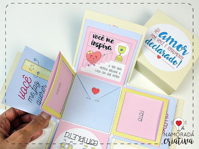 Diy Caixa Explosiva Ilustrada Amor Declarado Para Ian