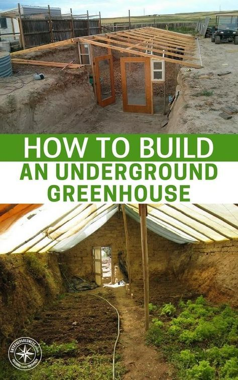 How To Build an Underground Greenhouse — Growing your own food isn't difficult in the summer, but winter gardening is a lot more complicated. It is made infinitely easier when you have a space that is insulated from the elements. | Posted by: SurvivalofthePrepped.com