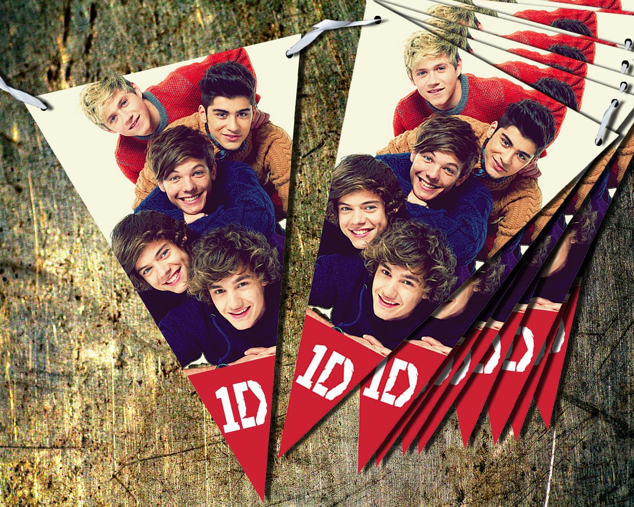 2 5 Metre One Direction Bunting Banner