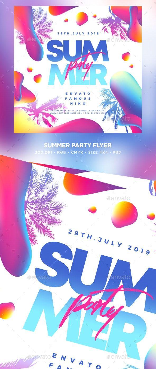 Summer Flyer Template PSD. Download Дизайн
