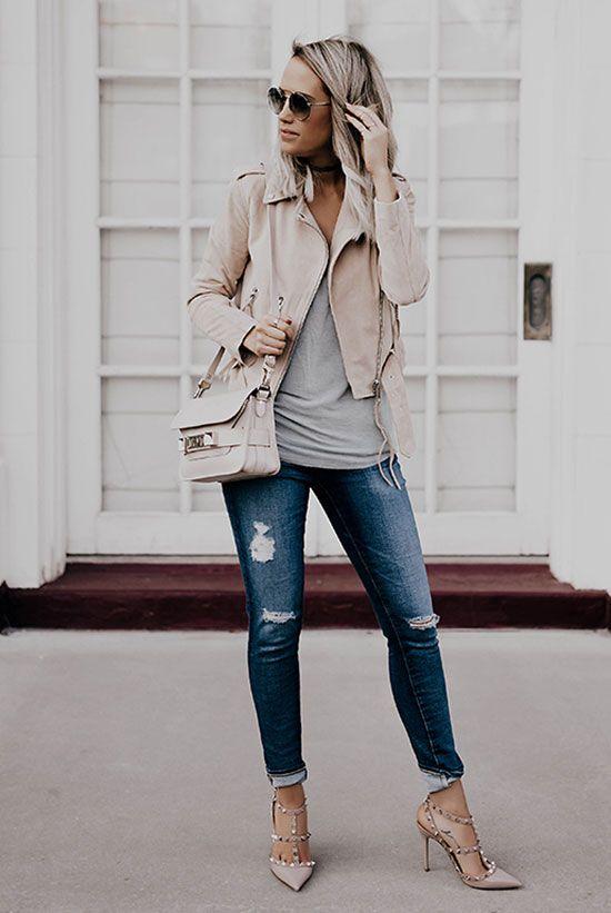 the top blogger looks of the week jean destroy rose poudre et jeans. Black Bedroom Furniture Sets. Home Design Ideas