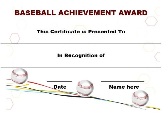 eye catching free printable baseball certificates suitable for kids young atheletes and for any baseball games including tournaments and league matches