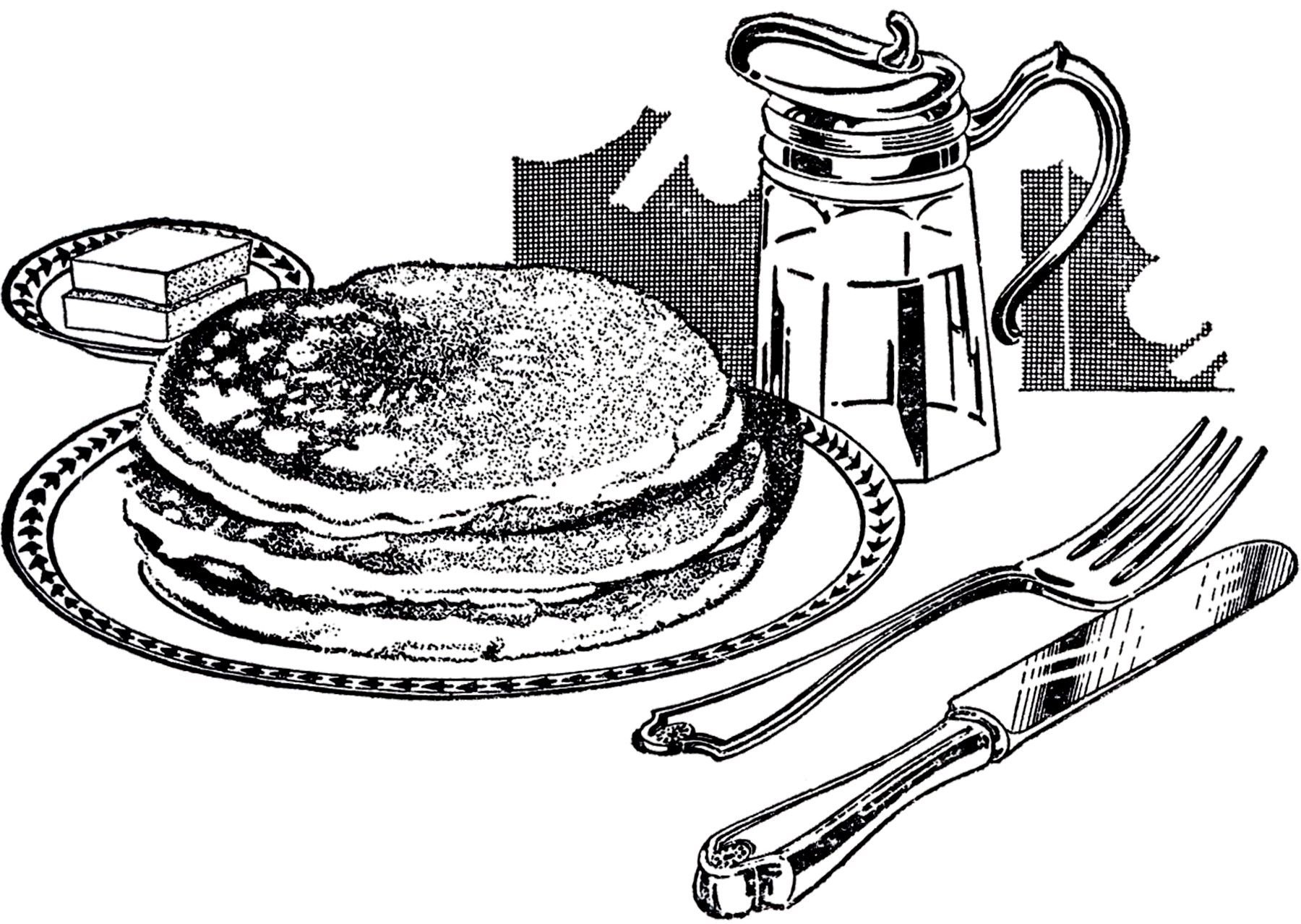 thegraphicsfairy com wp content uploads 2015 04 vintage pancake breakfast image [ 1800 x 1278 Pixel ]