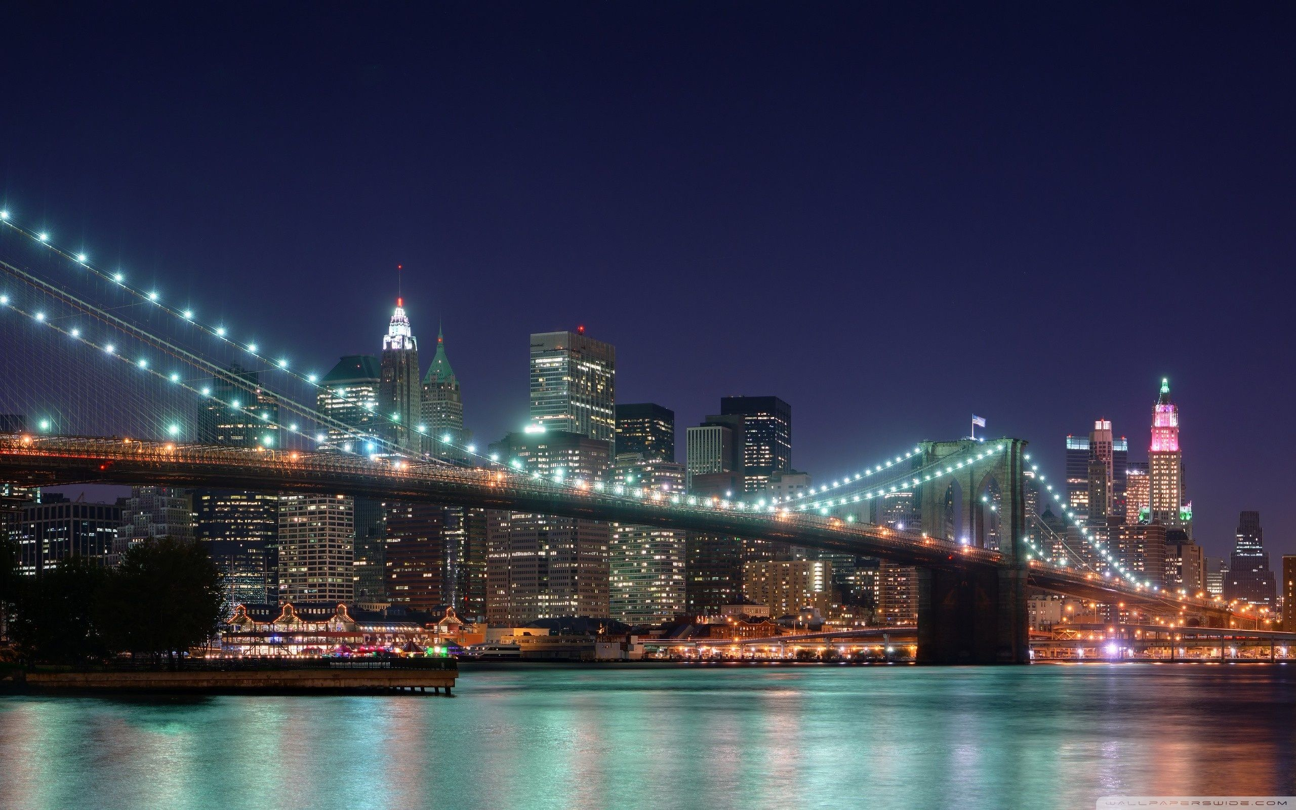 Brooklyn Bridge, New York HD desktop wallpaper High