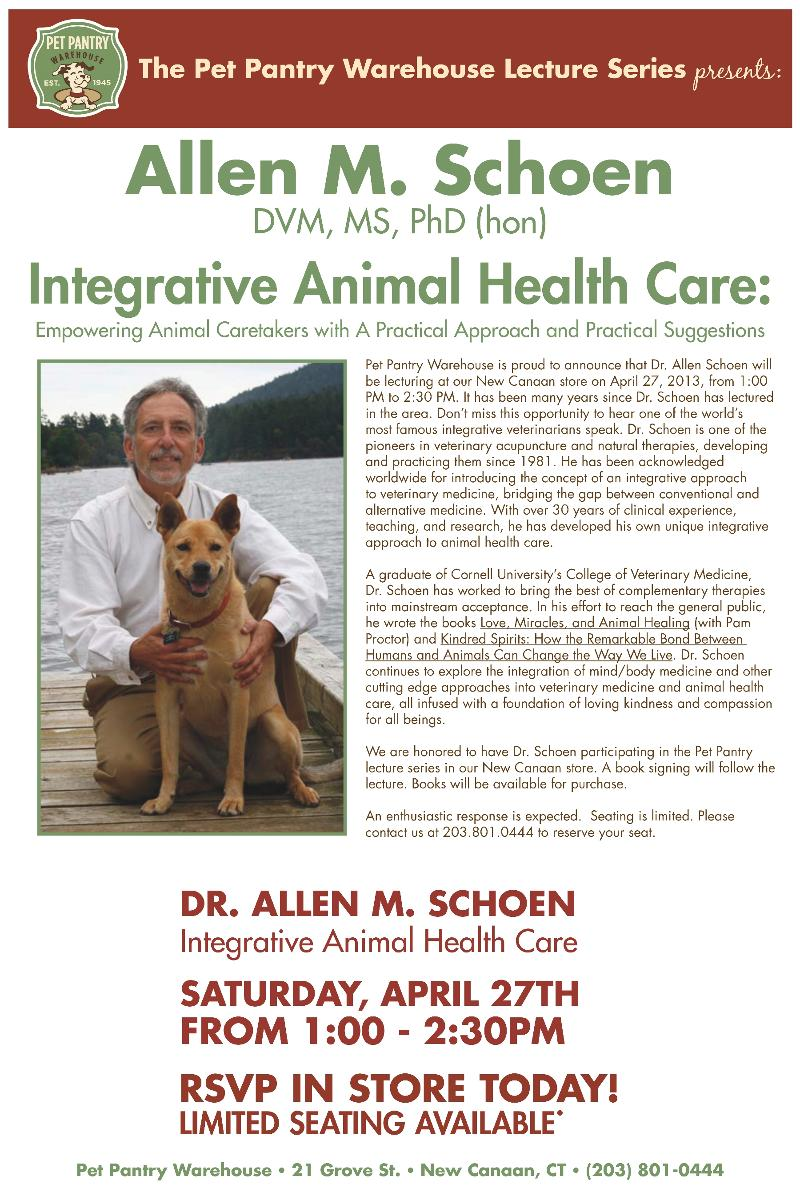 Dr Allen Schoen Holistic Integrative Veterinary Healthcare Pet Health Care Integrative Pet Health