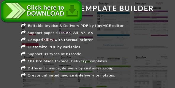 Free nulled PDF invoice template builder - Edit Invoice \ delivery - customize invoice
