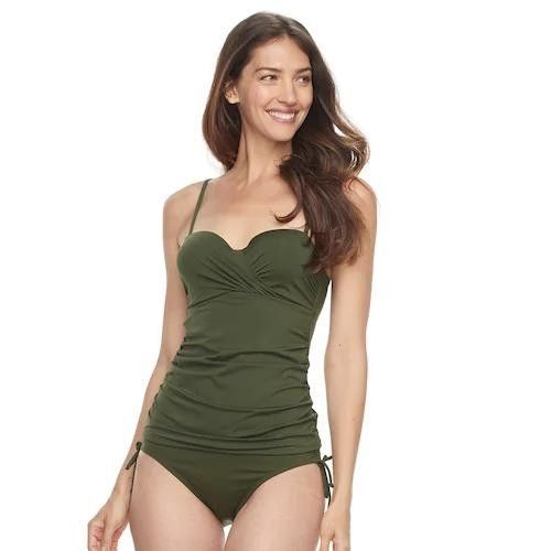 bb380b8873f Women's Apt. 9 Twist Front Tankini Top Size M Green Msrp $36 New #fashion  #clothing #shoes #accessories #womensclothing #swimwear (ebay link)