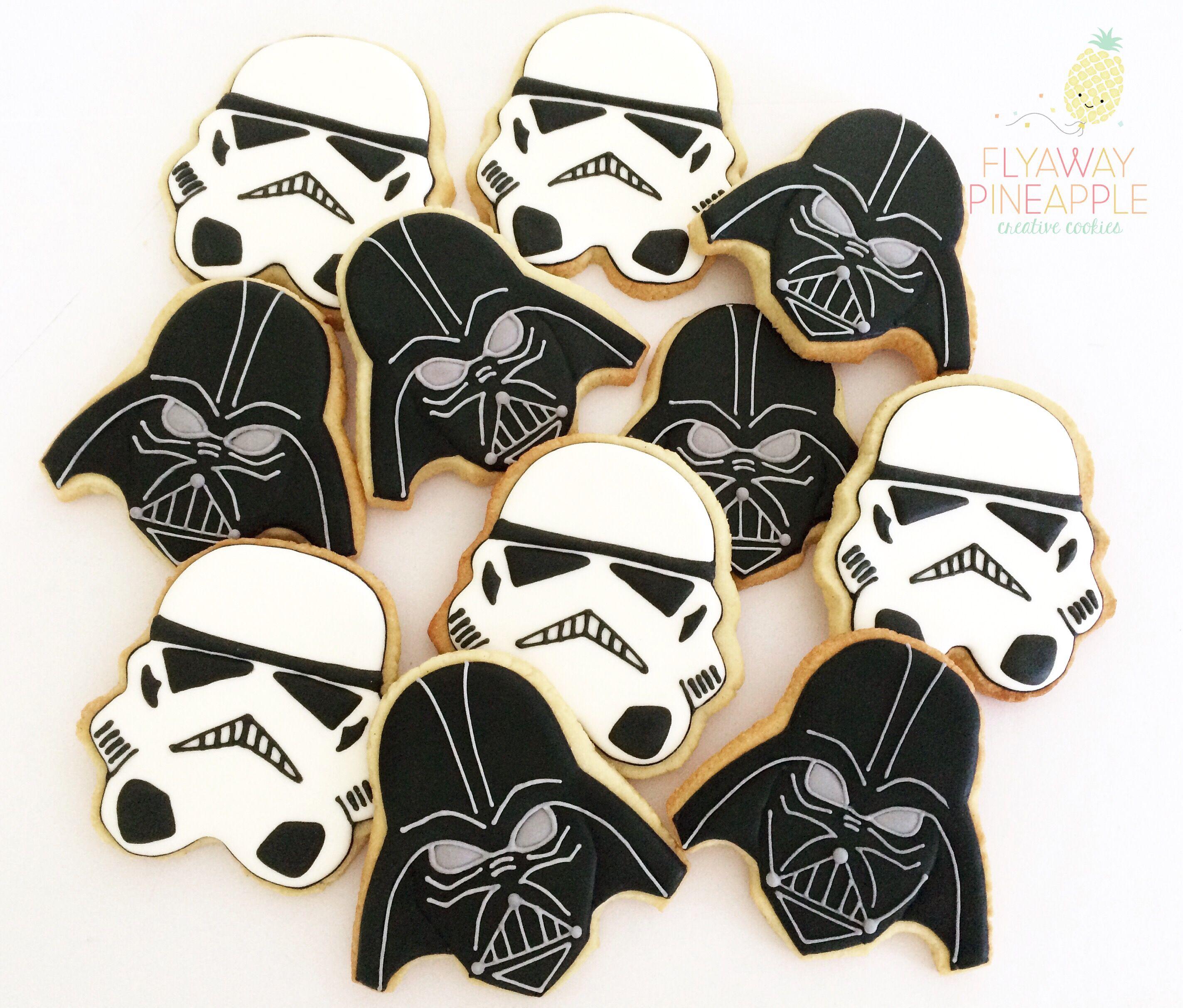 Star Wars cookies Darth Vader cookies Storm Trooper cookies