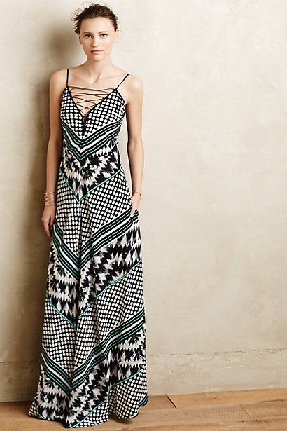 Mala Lace Up Maxi Dress By Cynthia Vincent Anthroregistry