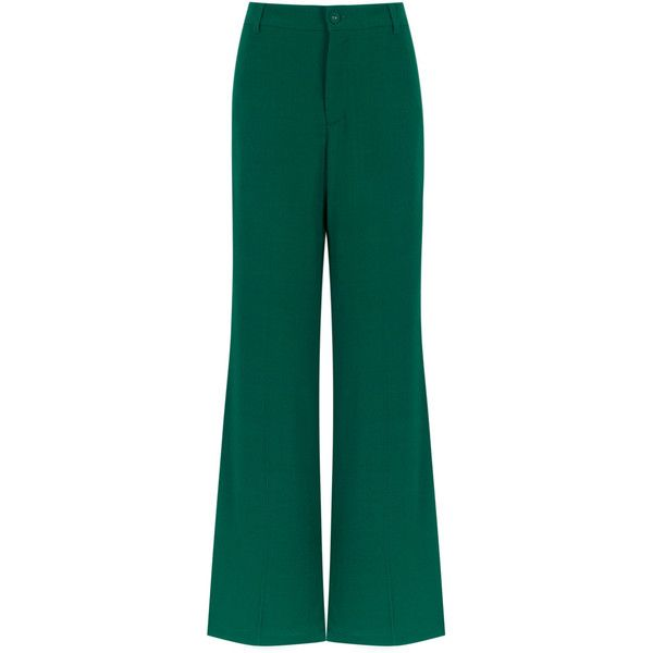 Clearance Hot Sale flared trousers - Green Reinaldo Lourenço Visa Payment For Sale Clearance Manchester Great Sale Outlet For Sale Buy Cheap Newest 8Ojs9Tsrtq