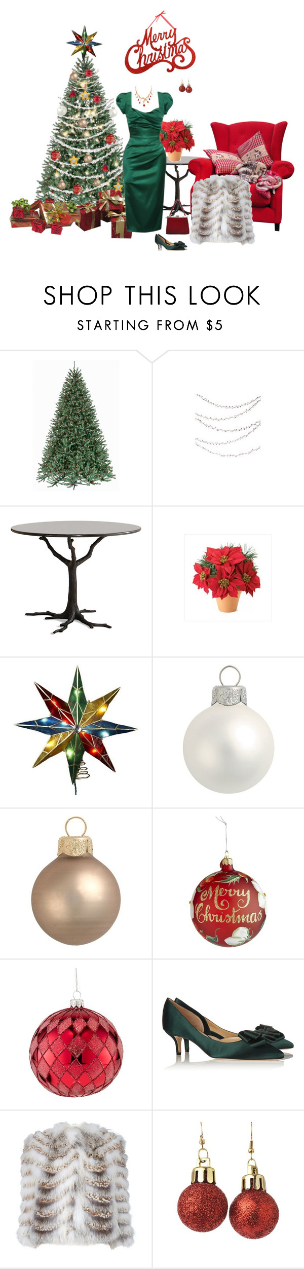 """Untitled #6443"" by msdanasue ❤ liked on Polyvore featuring Crate and Barrel, Kurt Adler, Pier 1 Imports, Department 56, Waterford, Oscar de la Renta, Ermanno Scervino and Léon Hatot"