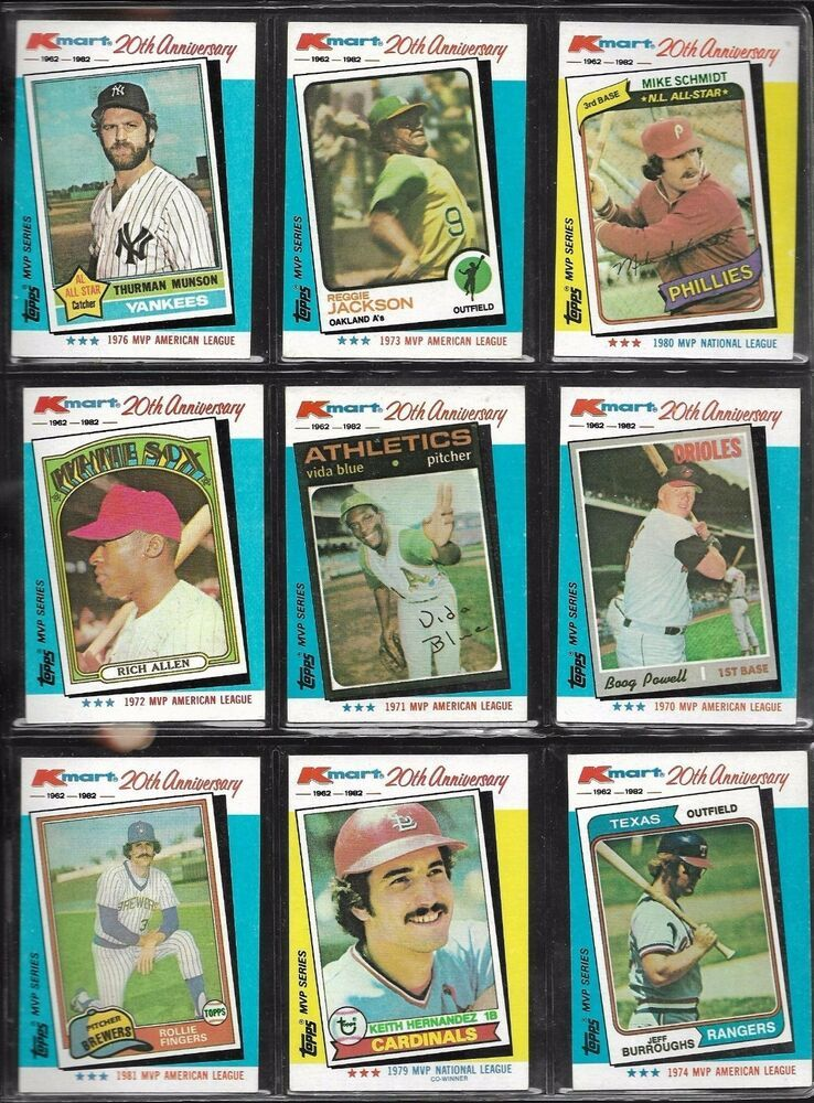 Topps Kmart 20th Anniversary Baseball Card Lot Of 9 Thurman Munson
