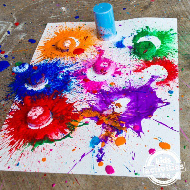 Exploding Paint Bombs Activity Science Experiments For Preschoolers Science Art Projects Science Experiments Kids