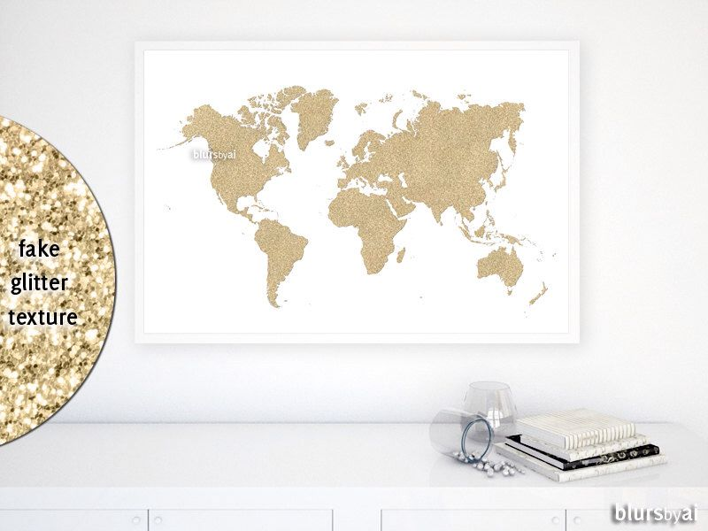 36x24 printable world map golden glitter map gold nursery map 36x24 printable world map golden glitter map gold nursery map gold world gumiabroncs Image collections