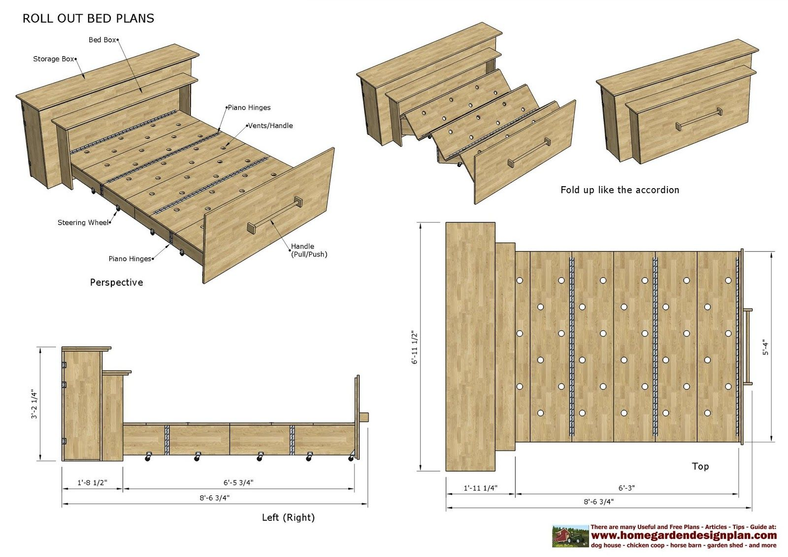 ROB100 - Roll Out Bed Plans Construction - Smart B