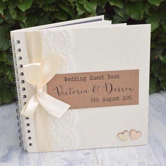 Brillo Boda libro de visitas Boda libro de visitas Boda Favores regalos de Boda