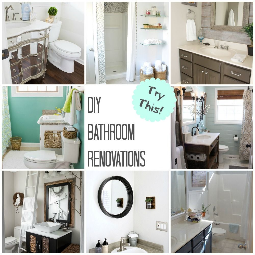 TRY THIS: DIY Bathroom Renovations | Interiors, Bath and House