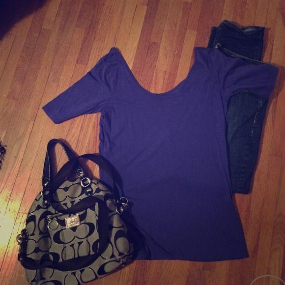 Decree tight shirt Tight purple shirt so comfy!! Decree Tops