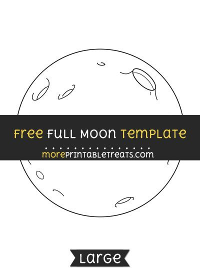 free full moon template large