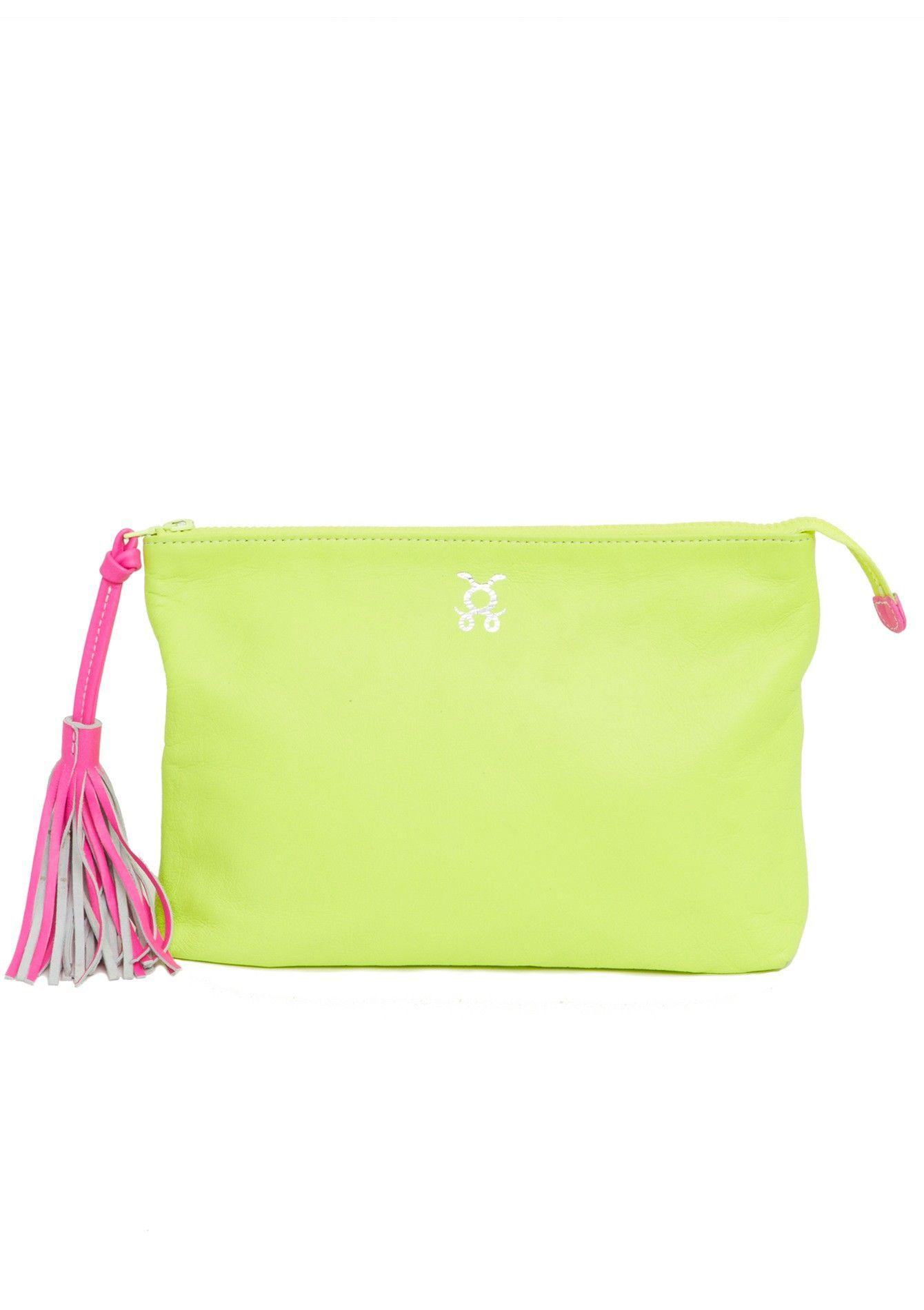 Neon Yellow Pouch Couture Handbagsprada Handbagsburberry Handbagsdesigner