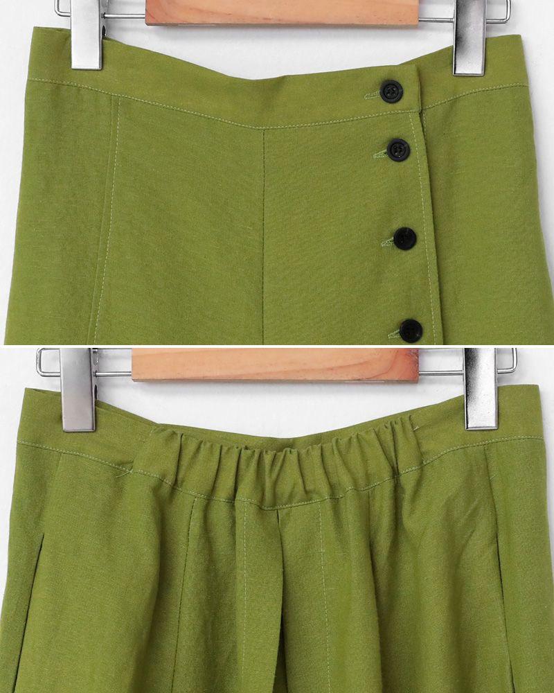 497cf02e960b2 ボタンディテールワイドパンツ・全2色パンツ・ジーンズパンツ・ズボン|レディースファッション通販 DHOLICディーホリック [ファストファッション  水着 ワンピース]