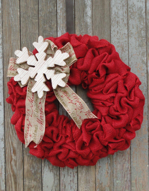 Photo of Items similar to Christmas Burlap Wreath–Winter Burlap Wreath–Snowflake Burlap Wreath–Merry Christmas Wreath–Red Burlap Christmas Wreath–Holiday Wreath on Etsy